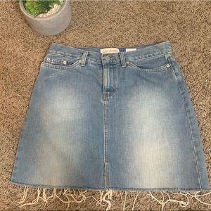 GAP Denim distressed skirt